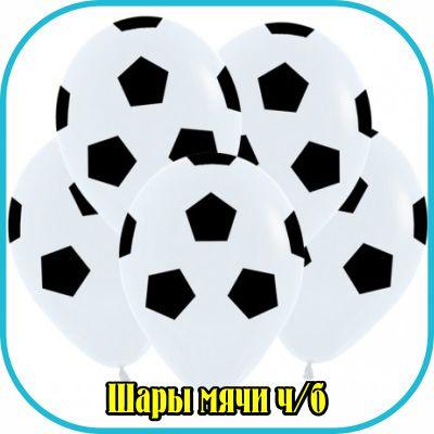 Шары футбольные мячи черно белые